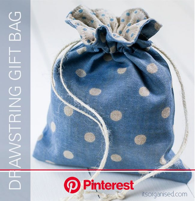 Drawstring Gift Bag Free Sewing Pattern   Drawstring bag tutorials, Drawstring bag pattern, Fabric gift bags #beauty,#skincare
