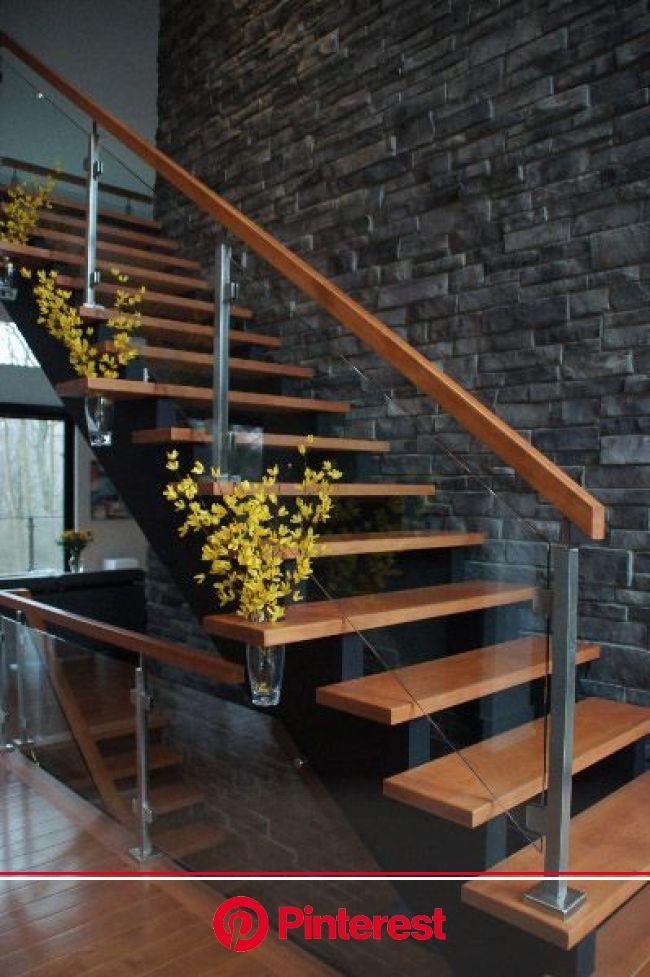 #homeinspiration #modernhome   #homedecor #designinspiration #interiors #decoratingideas | Stair railing design, Modern stairs, Modern stair railing #