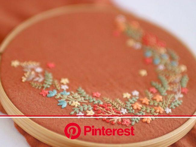 『花束の刺繍』 | 刺繍サンプラー, 刺繡柄, リボン刺繍 #beauty,#skincare