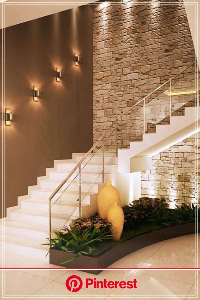 Escaleras para interiores: Diseños modernos de cemento, madera | Remodelacion de casas pequeñas, Decoracion de escaleras interiores, Decoración de una