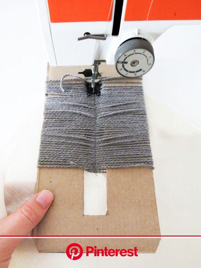 DIY Yarn Fringed Throw Pillow | Recipe | Yarn diy, Diy pillows, Fringe pillows #beauty,#skincare