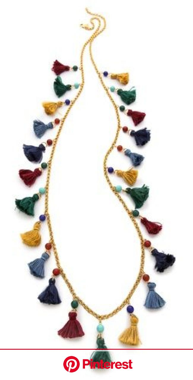 Ben-Amun Long Mini Tassel Necklace | Beaded jewelry, Handmade jewelry, Diy necklace #beauty,#skincare