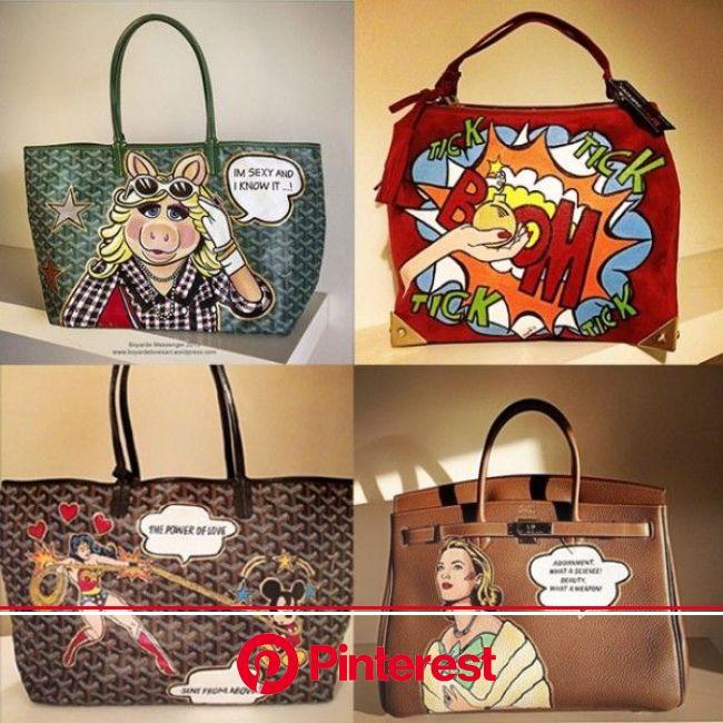 It-bags customizadas! | Pintura em couro, Sacolas, Bolsas de couro #beauty,#skincare