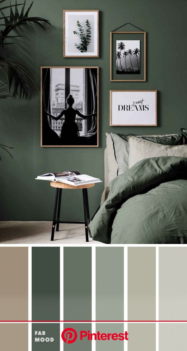 green bedroom , earth tone bedroom #green #bedroom #bedroomcolor bedroom color ideas, color schemes, col…   Small bedroom inspiration, Bedroom shades,