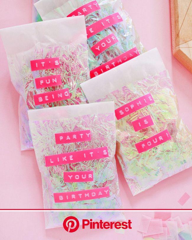 DIY Iridescent Favor Bags | Diy party favors, Diy party bags, Diy party favor boxes #beauty,#skincare