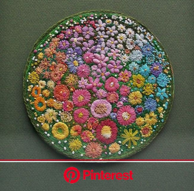 Floral circle | Hand embroidery, Embroidery inspiration, Embroidery hoop art #beauty,#skincare