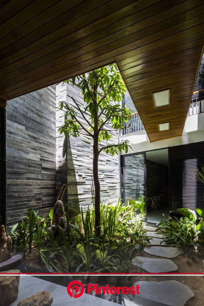 Garden House / Ho Khue Architects | Interior garden, House design, Patio interior #beauty,#skincare