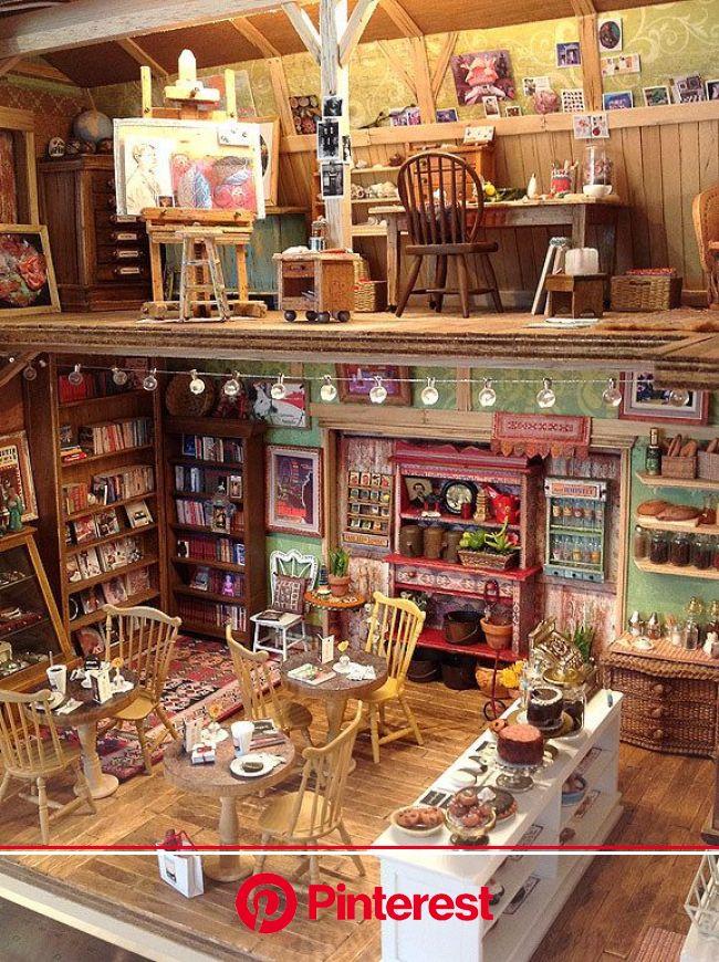 ©AmyGrossOldBlueBarn2014_2a   Miniature houses, Miniature rooms, Doll house #beauty,#skincare