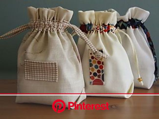 Easy Peasy Pouches (How-to) | Drawstring bag tutorials, Sewing gifts, Fabric bags #beauty,#skincare