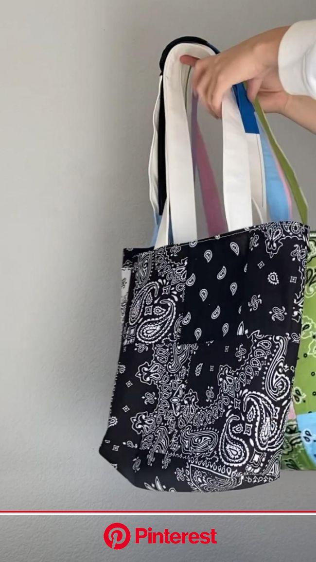 Some custom bandana bags [Video] | Upcycle clothes diy, Diy fashion clothing, Diy clothes design #beauty,#skincare