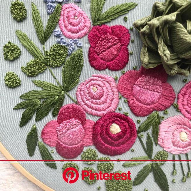 Embroidered Garden by Ovo Bloom | Hand embroidery, Hand embroidery projects, Diy embroidery #beauty,#skincare