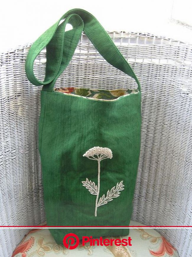 Yarrow bag | Embroidered tote bag, Embroidery bags, Fabric bags #beauty,#skincare