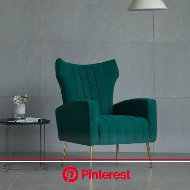 "Willa Arlo Interiors Biggins 27.5"" Wide Velvet Wingback Chair in 2021   Velvet wingback chair, Luxury living room, Living room seating #beauty,#s"