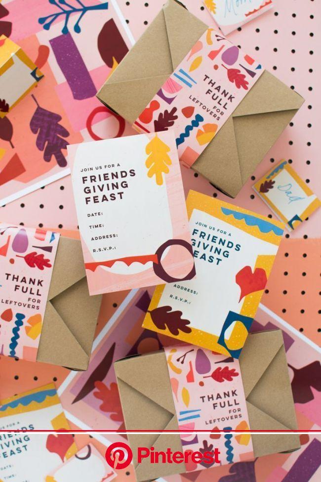 Friendsgiving Printables | Packaging design inspiration, Branding design, Card design #beauty,#skincare