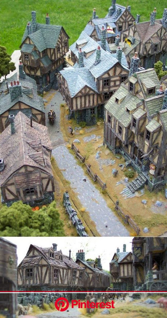 Vivacious And Wonderful Village Art For Your Wonderment - Bored Art | Scenery, Medieval houses, Medieval #beauty,#skincare