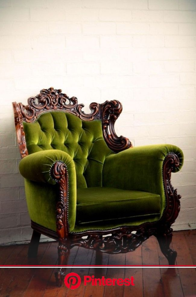Everything Should be Made From Velvet | Beautiful furniture, Furniture, Victorian chair #beauty,#skincare