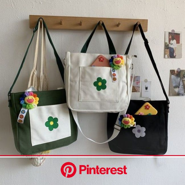 Material: canvas Condition: New Closed way: zipper Material:High quality canvas Color Classification: White, Green,… | Tote bag canvas design, Bags, P