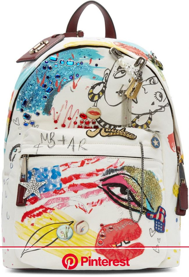 Marc Jacobs - Ecru Canvas Collage Backpack | Bags, Canvas collage, Marc jacobs #beauty,#skincare