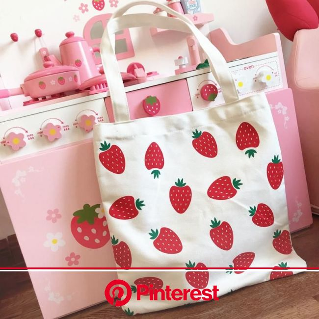 Strawberry Hand Bag JK1184 | Tote bag canvas design, Canvas bag design, Canvas bag #beauty,#skincare