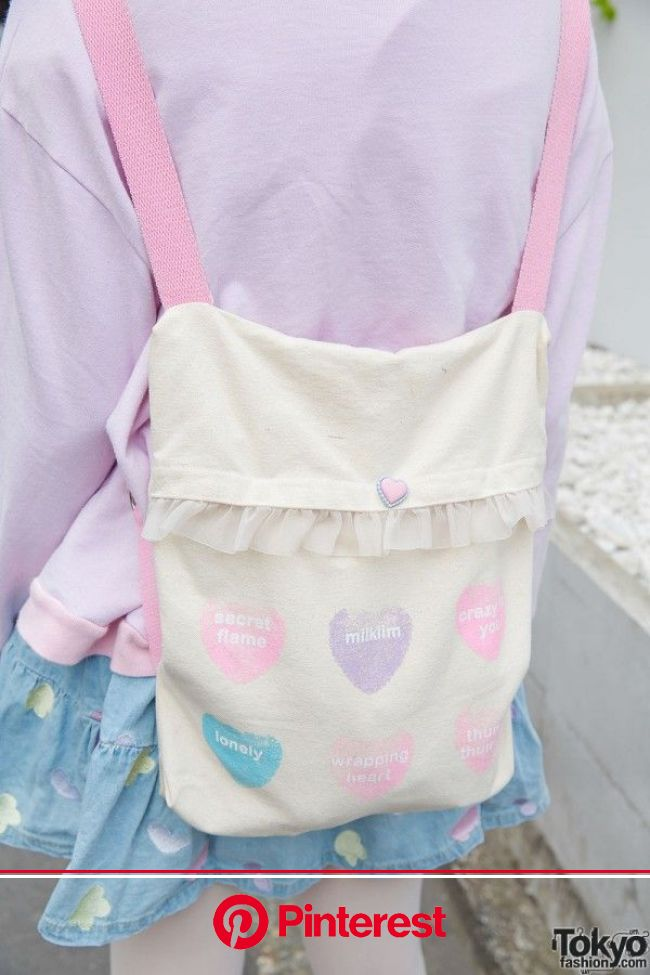 """June 2015: The girl in the right is Chan Ri. She is wearing items from Milklim Harajuku, including a """"cotton candy"""" sweatsh… 