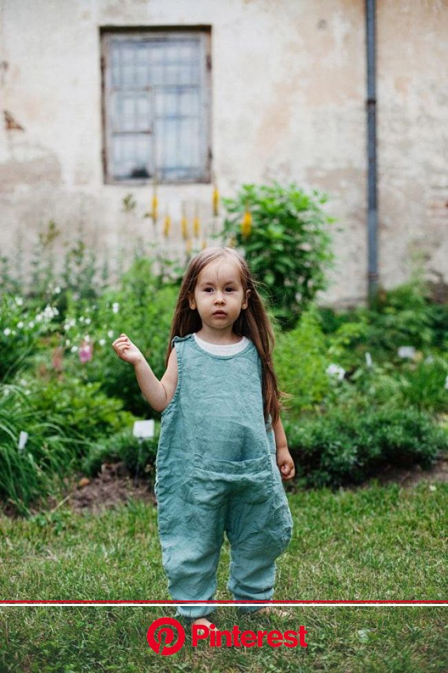 Linen Jumpsuit Sunny / Linen Kids Overall in Mint Green / more | Etsy | Kids outfits, Jumpsuit for kids, Linen jumpsuit #beauty,#skincare