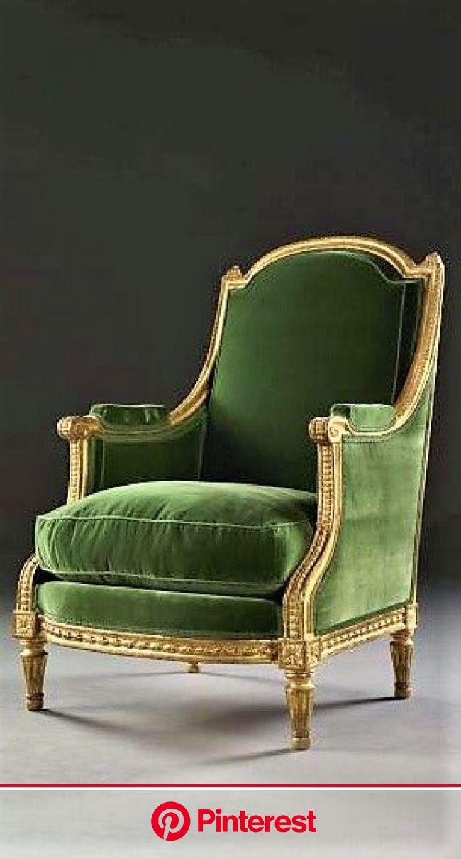 BERGÈRE À LA REINE D'ÉPOQUE LOUIS XVI Estampille de Jean-Baptiste Lelarge (reçu maître en 1775) | Classic furniture, Victorian chair, Furniture #