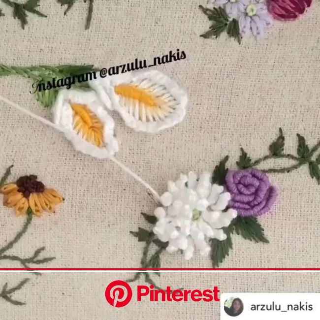 The best embroidery products are provided by Amazon, with competitive prices and original products [Video] | Crewel embroidery, Elde nakış, Boncuk nak